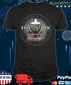 Joe Biden Kamala Harris President of the United States 46th inauguration january 20 2021 Washington DC shirt
